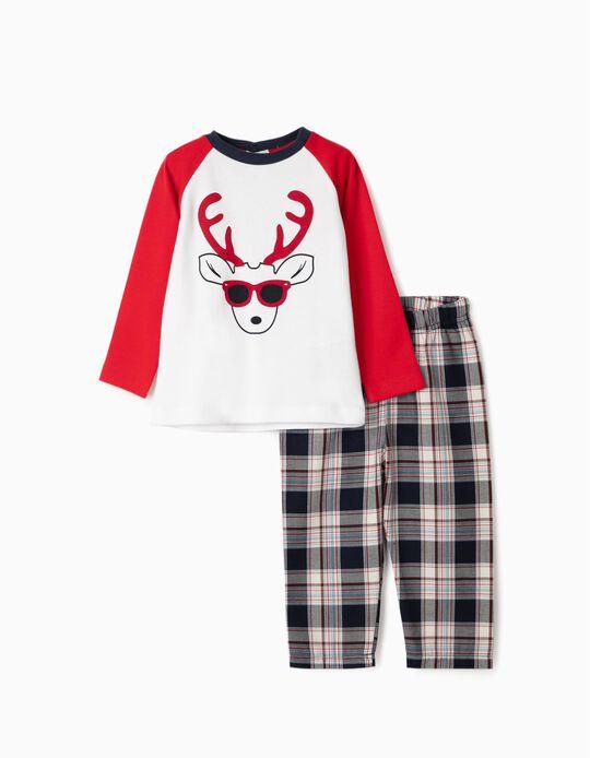 Pijama para Bebé Niño 'Christmas Reindeer', Rojo/Blanco