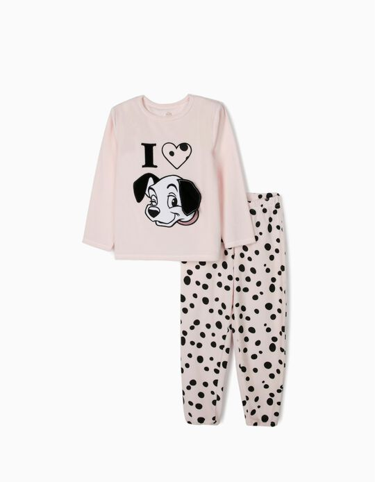 Pijama Veludo para Menina '101 Dalmatians', Rosa