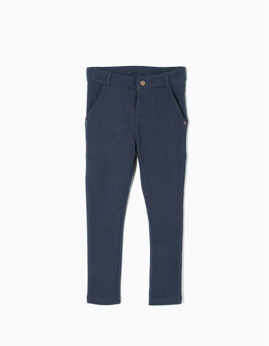 Calças Legging Azul Escuro