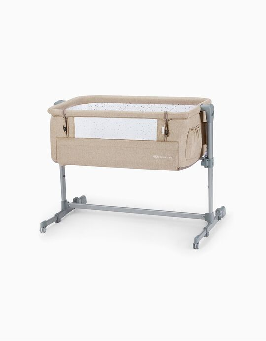 Bedside Crib, Neste Up by Kinderkraft, Beige Melange