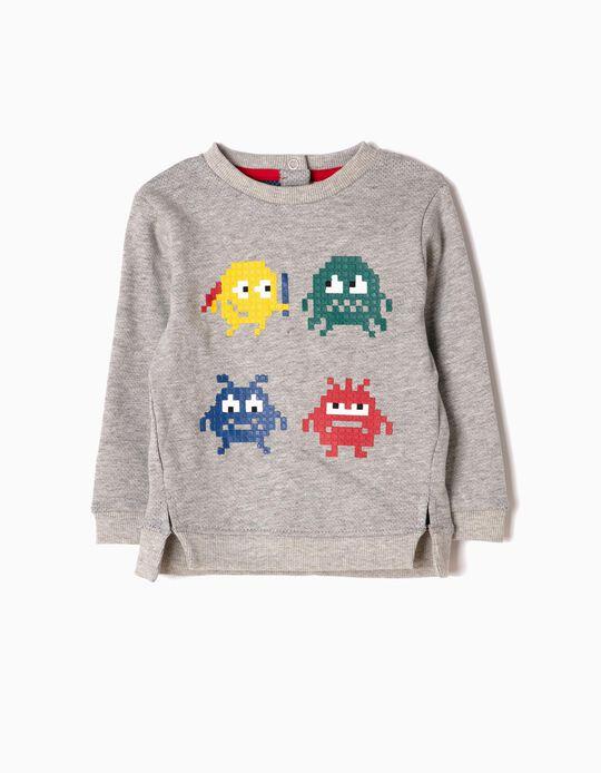 Sweatshirt Gaming Cinzenta