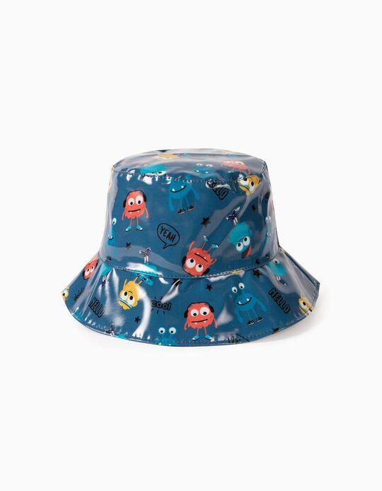 Sombrero Impermeable para Niño 'Monsters', Azul Oscuro
