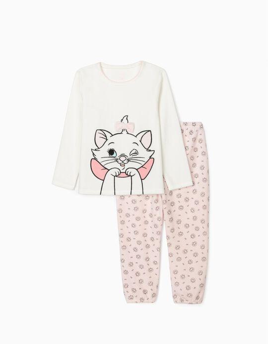Pijama de Veludo para Menina 'Aristocats', Branco/Rosa