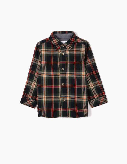 Check Shirt for Baby Boys 'B&S', Blue/Green