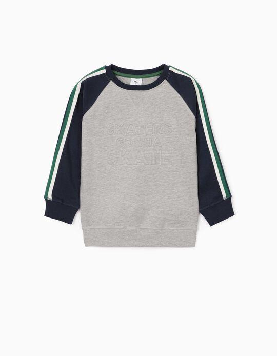 Camiseta para Niño 'Skaters', Gris/Azul Oscuro