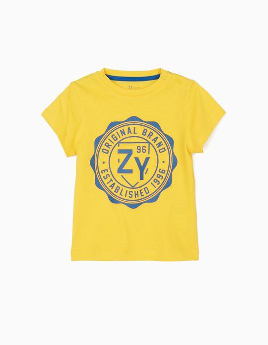 T-shirt para Bebé Menino 'ZY 96', Amarelo