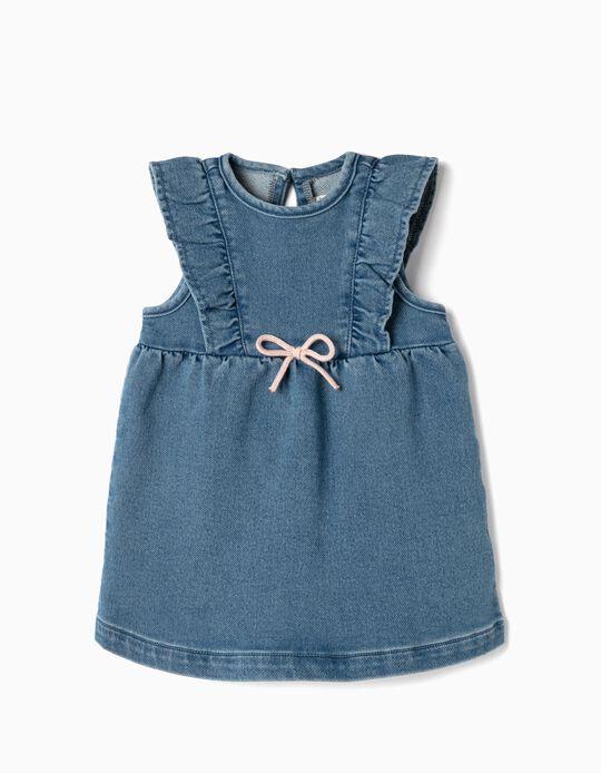 Vestido para Recién Nacida 'Comfort Denim', Azul