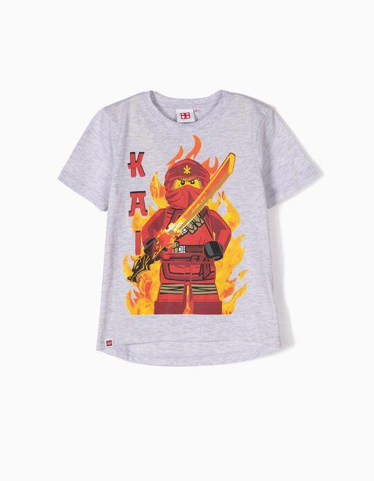 T-shirt para Menino 'Lego Ninja', Cinza
