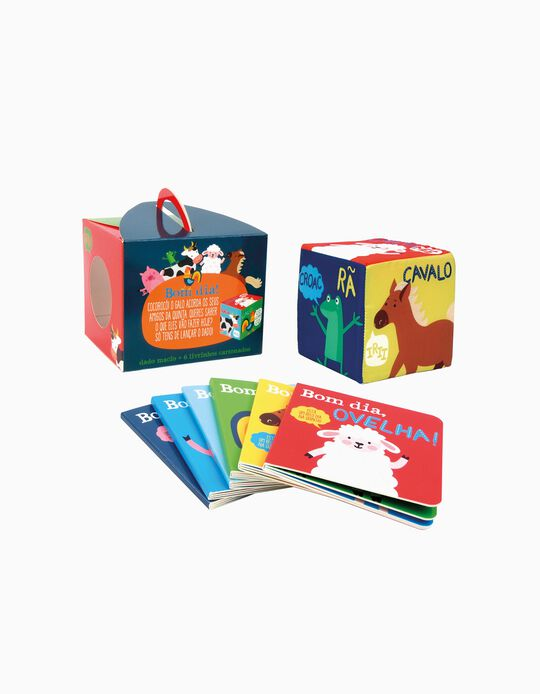 Caixa de 6 Livros e Dado Gigante Edicare
