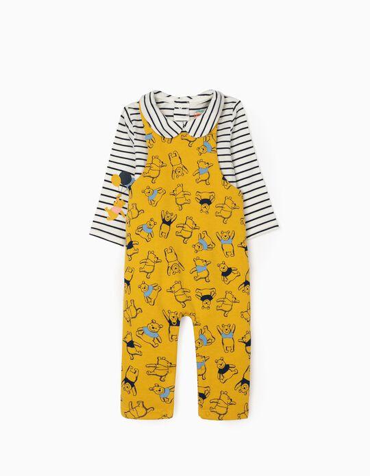 Body + Peto para Recién Nacido 'Winnie the Pooh', Blanco/Azul/Amarillo