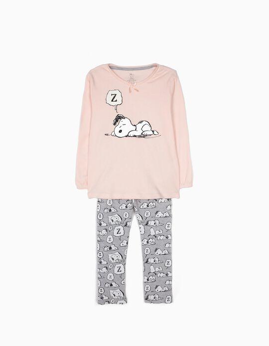 Pijama Manga Comprida e Calças Snoopy
