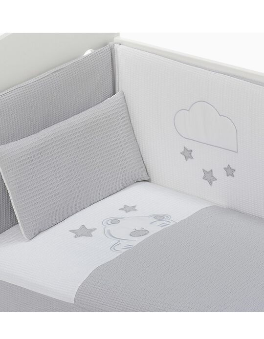 Duvet and Cot Bumper 120x60cm Viggo Don Algodon, Grey