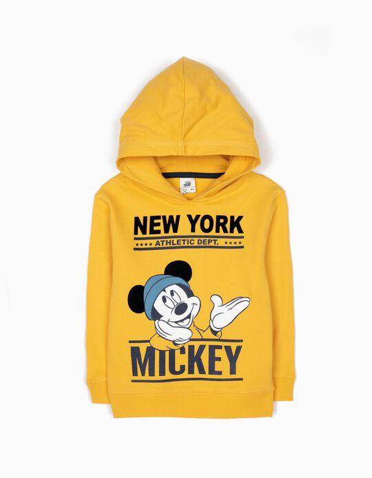 Sweatshirt com Capuz Mickey Amarela