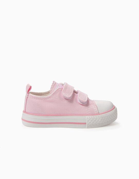 Zapatillas para Bebé '50's Sneaker' con Cierre Autoadherente, Rosa