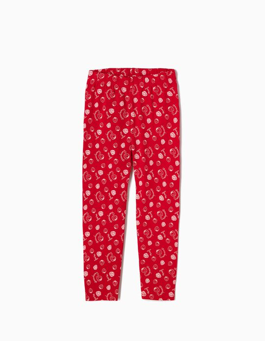Leggings Strawberries Vermelhas