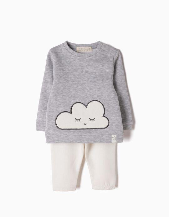 Fato de Treino Cinzento Nuvem