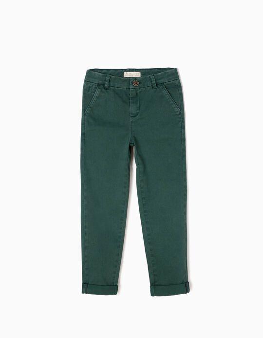 Pantalón Niño Chino Verde