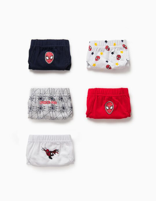 5 Briefs for Boys 'Spider-Man', Multicoloured
