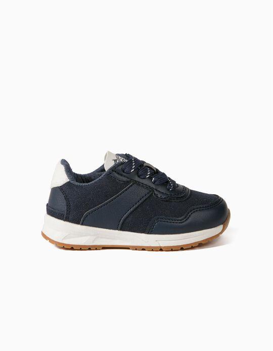 Zapatillas para Bebé Niño, Azul Oscuro