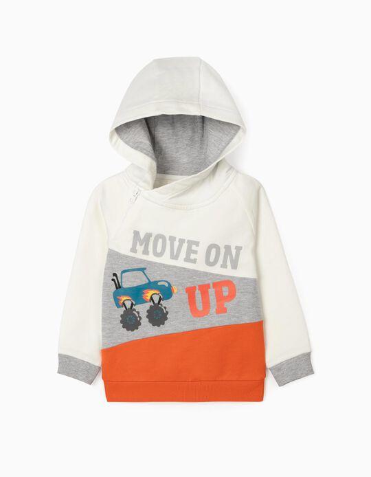 Sweatshirt com Capuz para Bebé Menino 'Move On', Multicolor