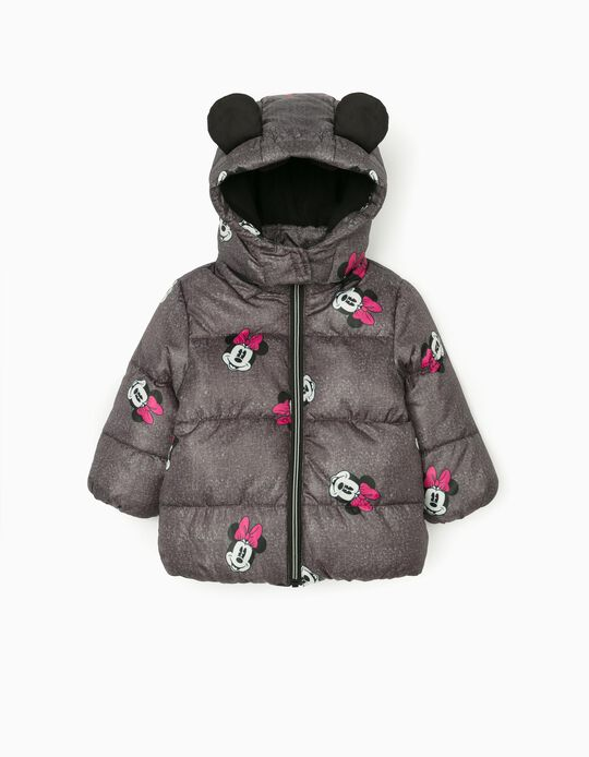 Padded Jacket for Baby Girls 'Minnie', Grey