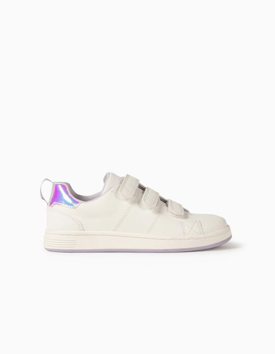 Baskets fille 'ZY 1996', blanc/lilas