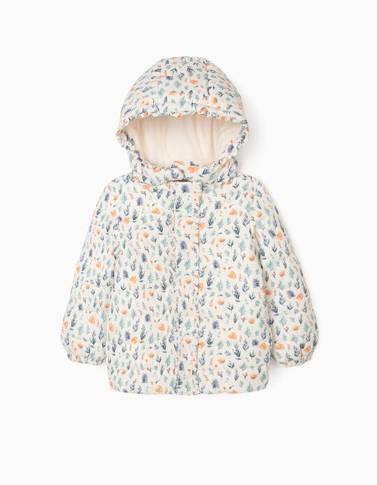 Padded Jacket for Girls, White