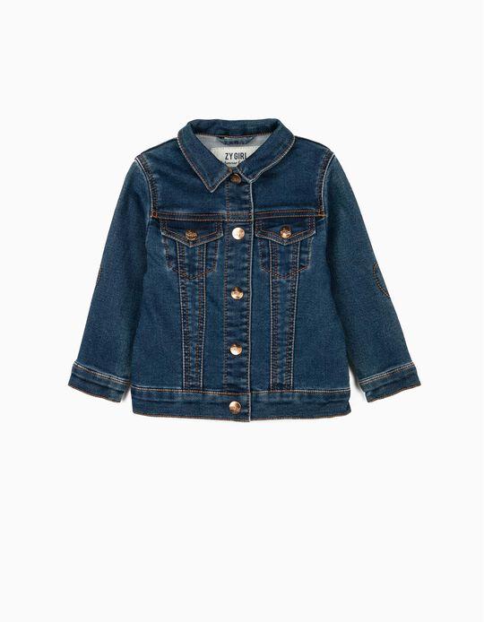 Denim Jacket for Baby Girls, Blue