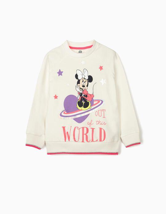 Sudadera para Niña 'Minnie World', Blanco