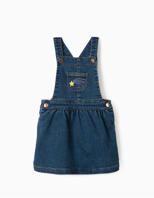 Denim Pinafore Dress for Baby Girls 'Comfort Denim', Blue