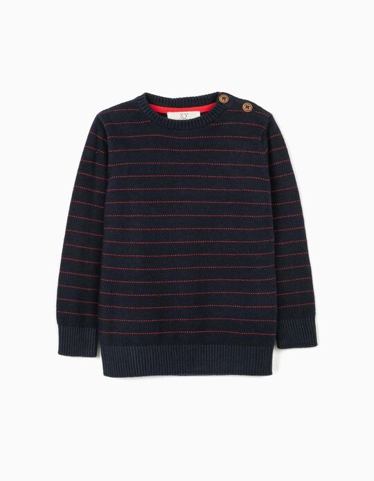 Striped Jumper for Baby Boys, Dark Blue