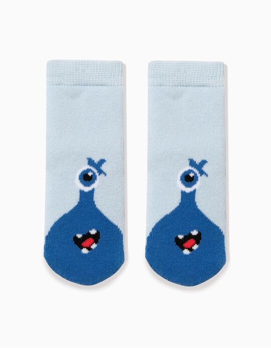 Calcetines antideslizantes Little Monster Azules