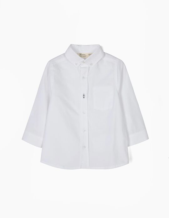 Camisa Bebé Menino Branca B&S