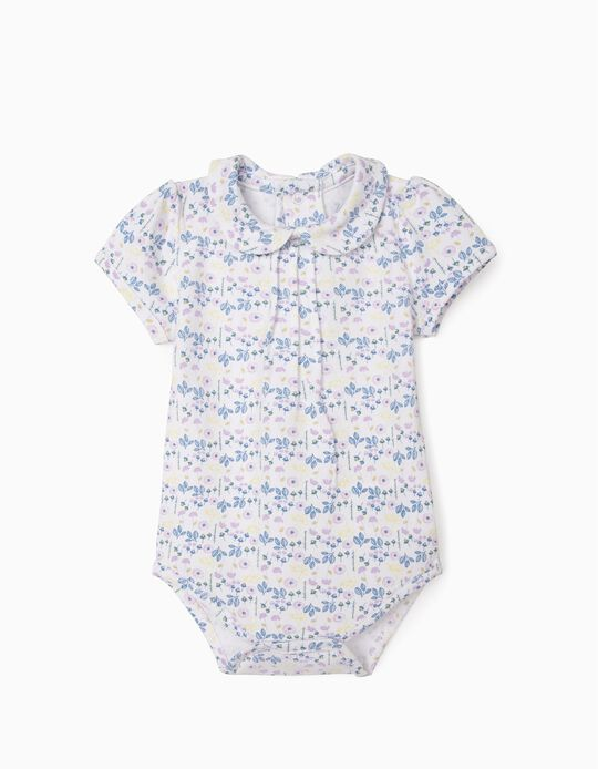 Bodysuit with Flowers for Newborn Baby Girls, Multicoloured