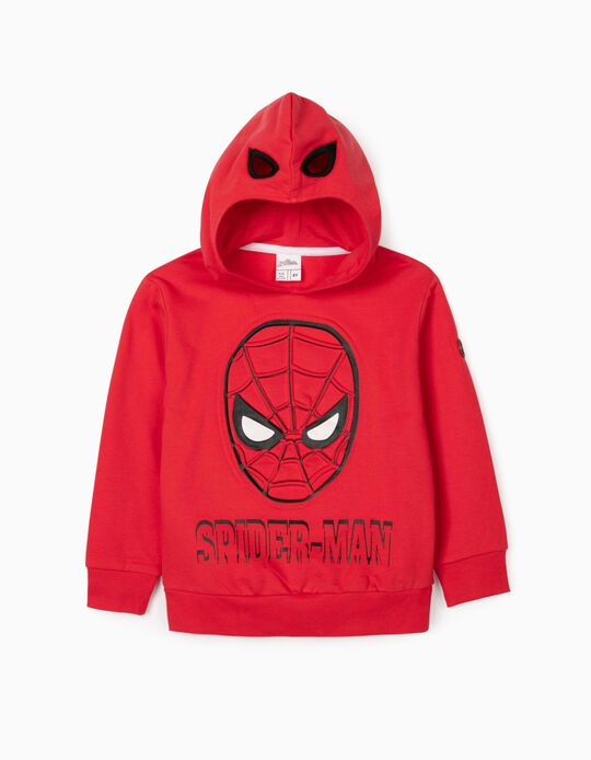 Sudadera con Capucha-Máscara para Niño 'Spider-Man', Roja