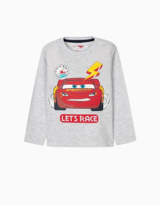 T-Shirt de Manga Comprida para Bebé Menino 'Cars', Cinza