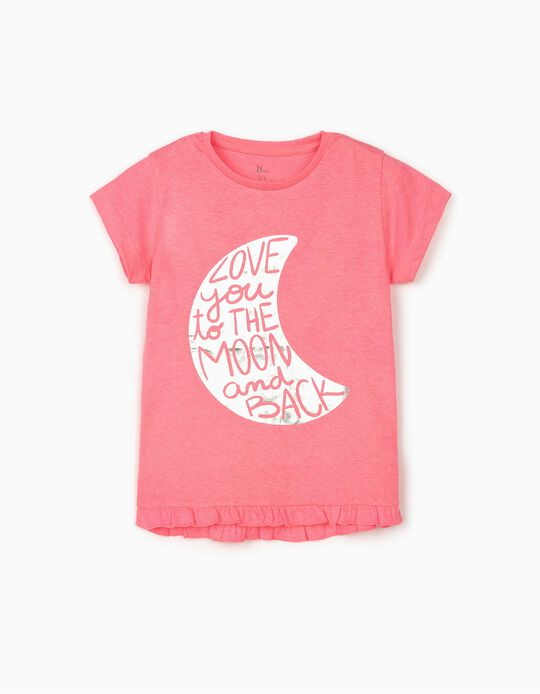 T-shirt for Girls 'Moon', Pink