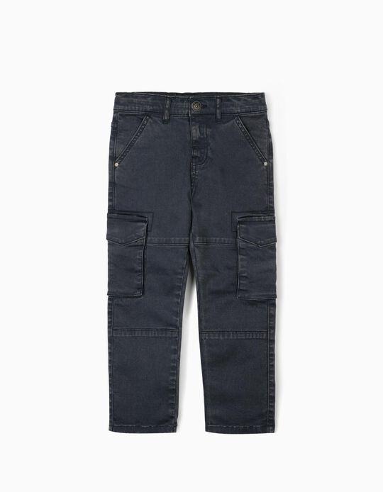 Pantalón Cargo para Niño, Azul