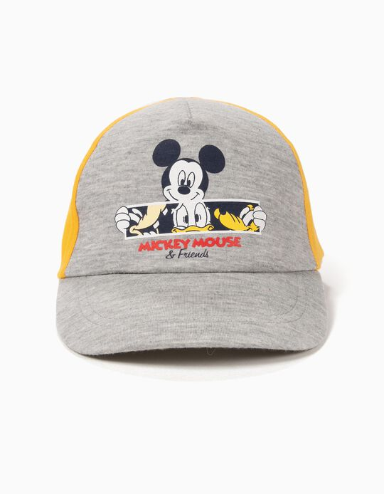 Cap for Baby Boys 'Mickey & Friends', Yellow/Grey