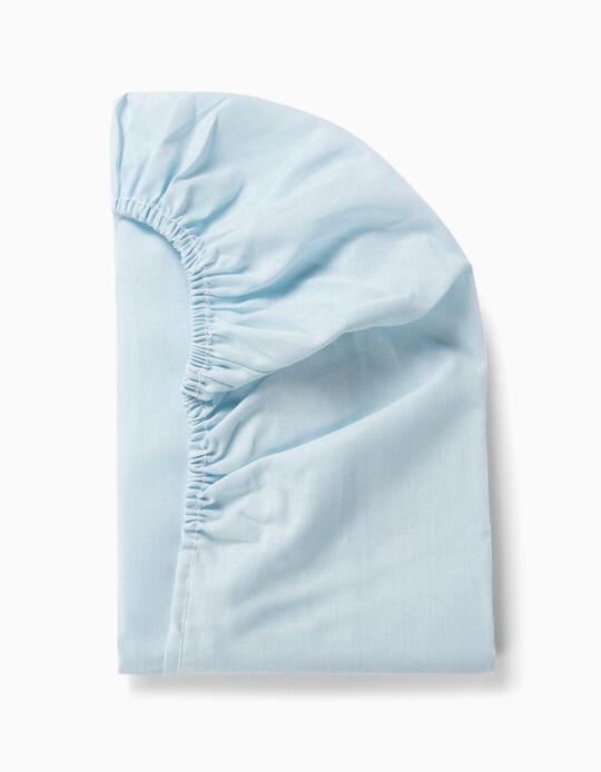 Lençol Ajustável para cama 120x60cm Interbaby Azul