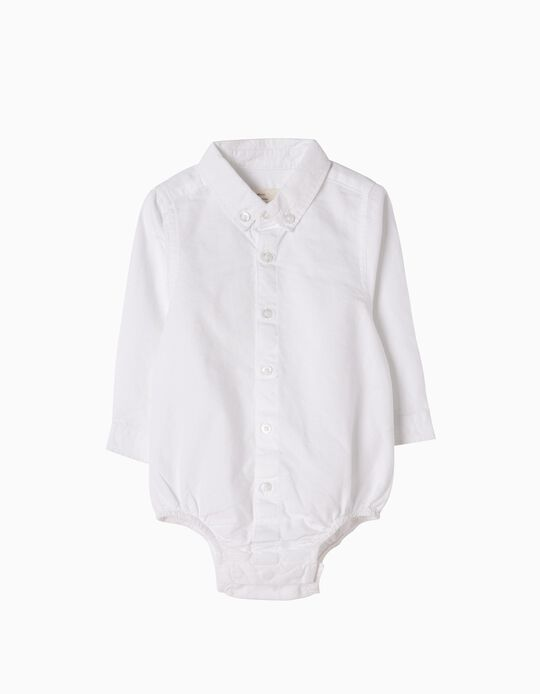 Chemise-Body Nouveau-né, Blanc