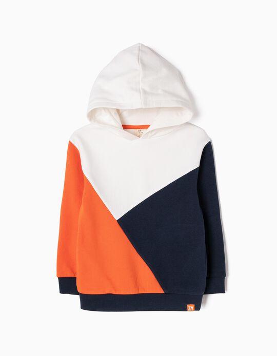 Sweatshirt com Capuz Tricolor