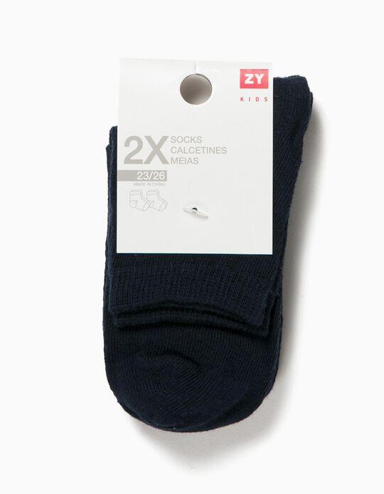 Pack 2 Pares de Calcetines Azules