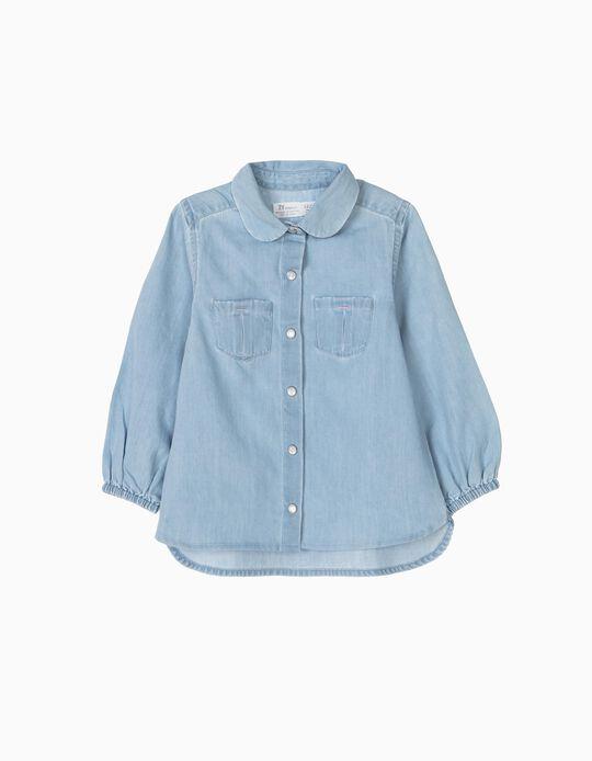 Camisa Ganga para Bebé Menina, Azul Claro