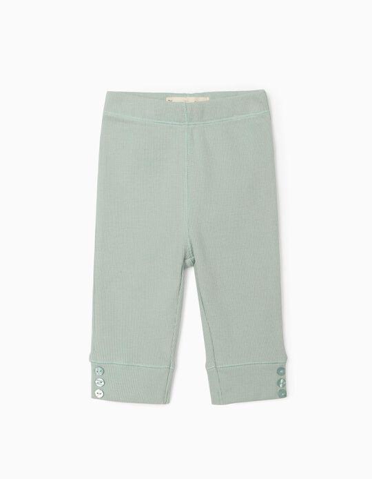 Pantalón de Canalé para Recién Nacida, Verde