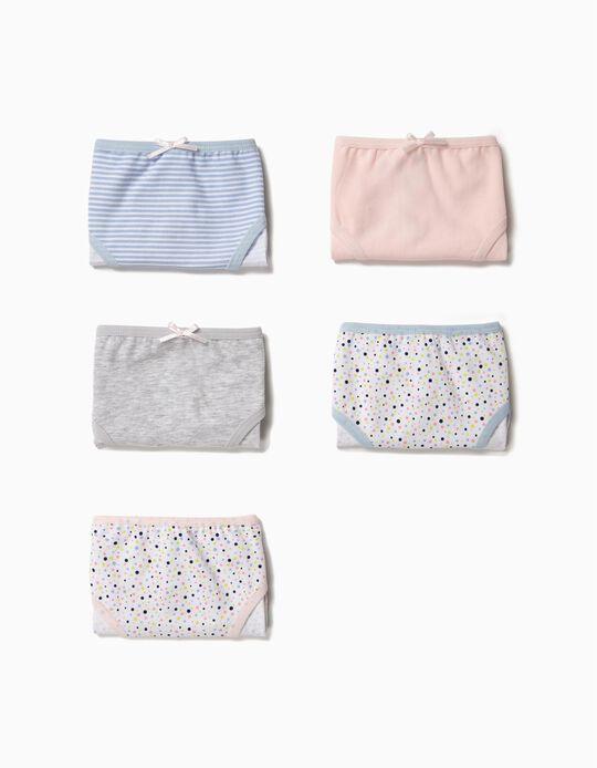 5 Cuecas para Menina 'Dots & Stripes', Multicolor