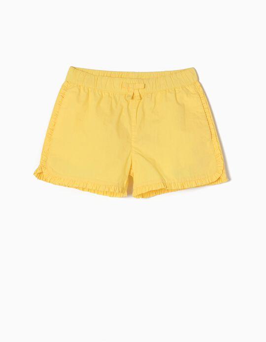Calções Folhos Amarelos