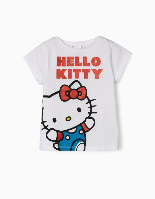 T-shirt for Girls, 'Hello Kitty', White