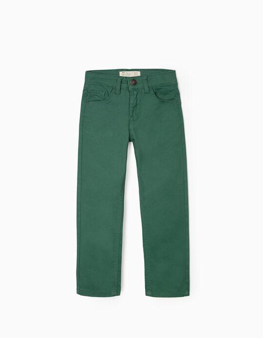 Calças de Sarja para Menino, Verde