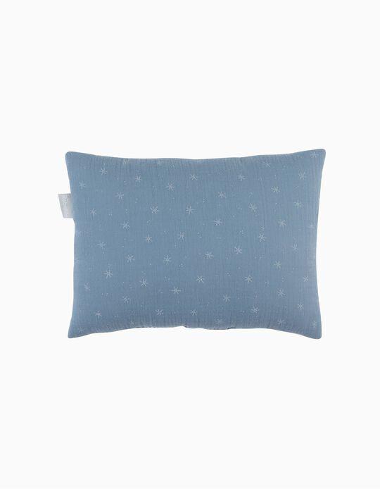 Almofada De Decoração Musselina Stars Blue Rebelde